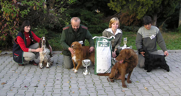 FOUR BEST DOGS AT THE CLUB WINNER SHOW 2004